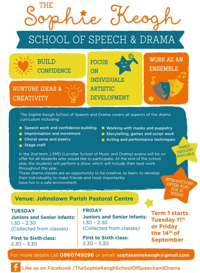 Speech and Drama classes | Johnstown Parents Association Website